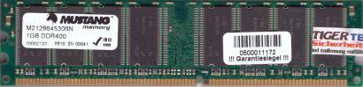 Mustang M2128645306N PC-3200 1GB DDR1 400MHz Arbeitsspeicher RAM* r679