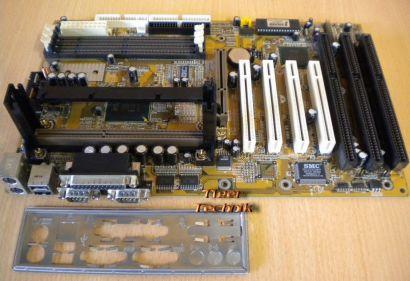 Biostar M6TLC Ver 1.3 Mainboard + Blende 3x ISA Slot 1 Intel 440LX AGP PCI* m86