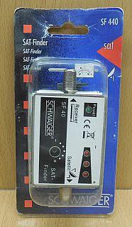 Schwaiger SF 440 SAT Finder 3+1 LED F-Buchse F-Buchse SAT-Finder* so799