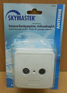 Skymaster 35331 Durchgangsdose 11db TV Radio Kabel DVB-T Antennendose* so801