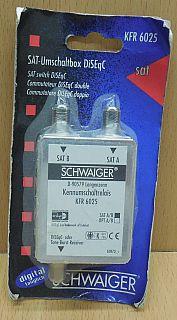 Schwaiger KFR6025 SAT Umschaltbox DiSEqC 2.0 Schalter Verteiler 2 auf 1* so803