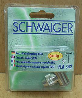 Schwaiger FLA 342 031 Metall Winkel Kupplung IEC Winkelkupplung Quality+* so804