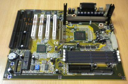 Gigabyte GA-686LX Rev. 1D Mainboard + Blende Slot 1 Intel 440LX 3x ISA m87