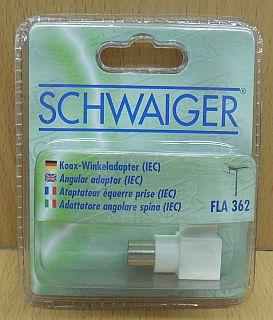 Schwaiger FLA 362 031 Winkel Kupplung Adapter IEC Winkelkupplung* so805