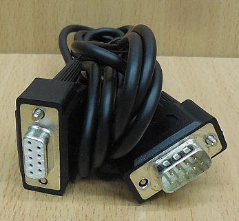 Seriell Kabel 2m serial Verlängerung RS232 Nullmodem DSub Stecker Buchse* pz731
