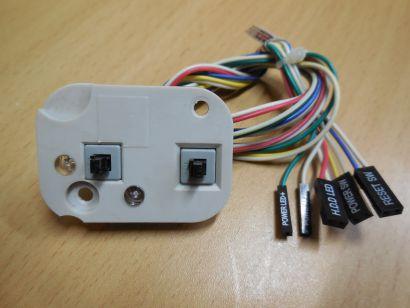 TERRA PC Power und Reset Schalter mit Power und HDD LEDs mit Halterung* pz564