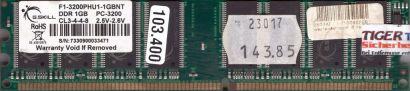 G.SKILL F1-3200PHU1-1GBNT PC-3200 1GB DDR1 400MHz Arbeitsspeicher RAM* r682