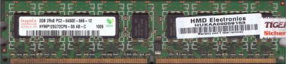 Hynix HYMP125U72CP8-S6 AB-C PC2-6400E 2GB DDR2 800MHz ECC RAM* r684