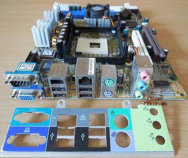 Shuttle XPC SB61G2 SB61G2V3 FB61 FB65 V3.5 Mainboard Blende Sockel 478 SATA*m913