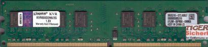 Kingston KVR800D2N6 2G PC2-6400 2GB DDR2 800MHz 99U5316-072 A00LF RAM* r694