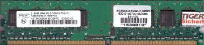 Aeneon AET660UD00-30DB97X PC2-5300U 512MB DDR2 667MHz Arbeitsspeicher RAM* r697