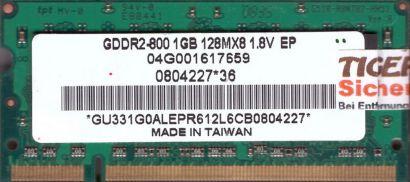 Unifosa GU331G0ALEPR612L6CB 0804227 PC2-6400 1GB DDR2 800MHz SODIMM RAM* lr95