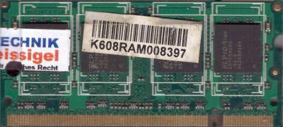 TRS TRSDD2512MS64U-667CL5BZXE-8 PC2-5300 512MB DDR2 667MHz SODIMM RAM* lr99
