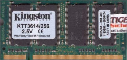 Kingston KTT3614 256 PC-2100 256MB DDR1 266MHz SODIMM 9905064-004 A00 RAM* lr101