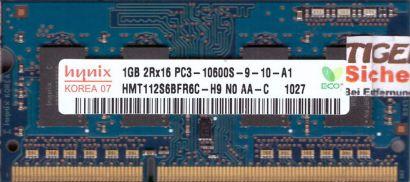 Hynix HMT112S6BFR6C-H9 N0 AA-C PC3-10600S 1GB DDR3 1333MHz SODIMM RAM* lr104