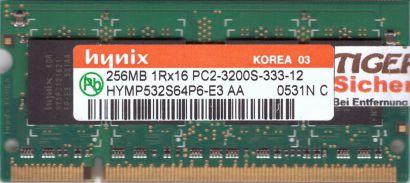 Hynix HYMP532S64P6-E3 AA PC2-3200 256MB DDR2 400MHz SODIMM RAM* lr107