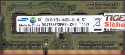 Samsung M471B2873FHS-CH9 PC3-10600S 1GB DDR3 1333MHz SODIMM RAM* lr111