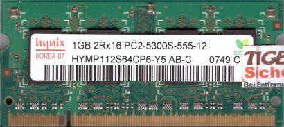 Hynix HYMP112S64CP6-Y5 AB-C PC2-5300 1GB DDR2 667MHz SODIMM RAM* lr115