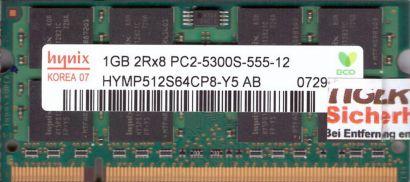 Hynix HYMP512S64CP8-Y5 AB PC2-5300 1GB DDR2 667MHz SODIMM RAM* lr116