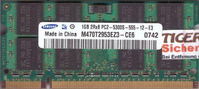 Samsung M470T2953EZ3-CE6 PC2-5300 1GB DDR2 667MHz SODIMM Arbeitsspeicher* lr123
