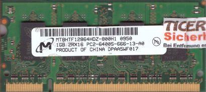 Micron MT8HTF12864HDZ-800H1 PC2-6400 1GB DDR2 800MHz SODIMM RAM* lr126