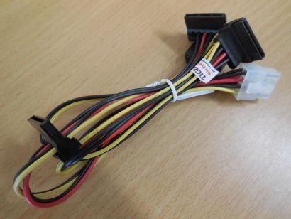 Original Fujitsu T26139-Y4012-V499-01 8-pin auf 4x SATA Power Stromkabel* pz566