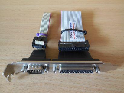 Slot Blende Slotblech 9 pin seriell männlich + 25 pin Parallel weiblich* pz567