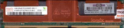 Hynix 1GB 2Rx8 PC2-5300F-555-11 HYMP512F72CP8N3-Y5 AB-C 0724 Arbeitsspeicher r2