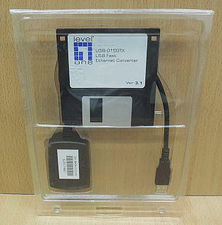 Level One USB-0100TX USB Netzwerkkarte Fast Ethernet LAN 10 100 Mbit* nw12
