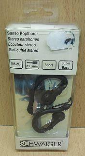 Schwaiger KHS 110 Stereo Sport Kopfhörer 106dB 3,5mm MP3 1,5m Super Bass* so815