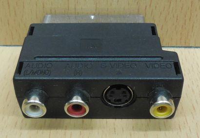 Scart Audio Video AV Adapter 3x Cinch Buchse S VHS Scart Stecker* so823