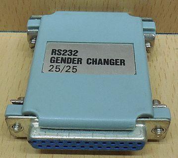 RS232 Gender Changer seriell SUB D 25 pol weiblich auf 25 pol weiblich* pz757