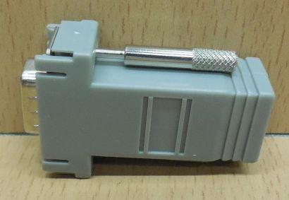 Adapter RJ 45 8 adrig Buchse 9 pol SUB D Stecker nur 8 pol belegt grau* pz766
