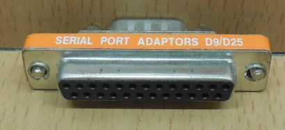 Seriell Adapter SUB D 25 pol weiblich Buchse 9 pol männlich Stecker serial*pz772