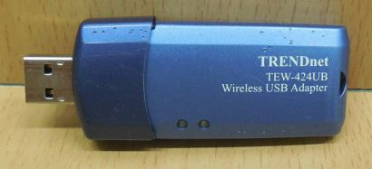 TRENDnet TEW-424UB Ver A USB 2.0 WLAN Stick Wireless Adapter 54Mbps 802.11g*nw13
