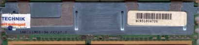 Micron MT18HTF12872FDY-667D5D3 FB DIMM 1GB PC2-5300F 667MHz HP 398706 051* r08