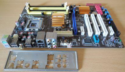 Asus P5Q SE2 Rev1.00G Mainboard +Blende Sockel 775 Intel P45 FSB1600 DDR2* m915