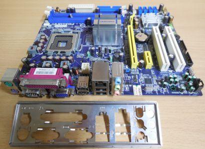 Foxconn 45CMX K Rev 1.0 Mainboard +Blende Sockel 775 DDR2 PCIe GbE LAN VGA* m919