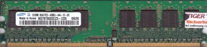 Samsung M378T6553CZ3-CD5 PC2-4200 512MB DDR2 533MHz Arbeitsspeicher RAM* r41
