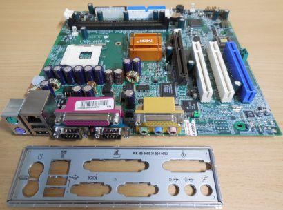 MSI MS-6507 Ver 1 Mainboard +Blende Sockel 478 Intel 845 AGP PCI LAN Audio* m923