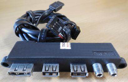 Antec P183 ATX PC Gehäuse Front Panel Audio Mic 2x USB eSATA* pz585