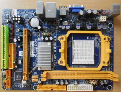 Biostar MCP6PB M2+ Ver 6.3 Mainboard +Blende Sockel AM2+ AM2 VGA DDR2 LAN* m931