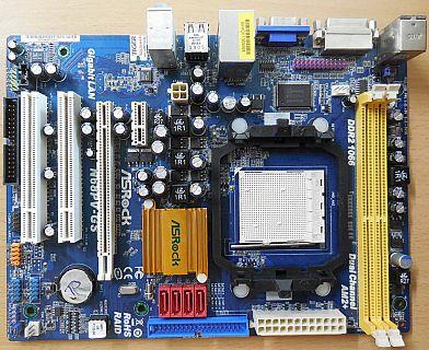 ASRock N68PV-GS Rev1.02 Mainboard +Blende Sockel AM2+ AM2 VGA DVI DDR2 1066*m932