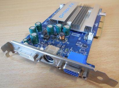 nVIDIA GeForce FX 5200 EP 128MB 64Bit DDR AGP 8x VGA TV-Out DVI Grafikkarte*g395