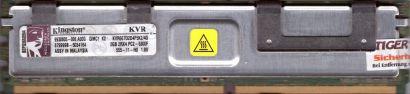 Kingston FB DIMM 4GB Kit 2x2GB KVR667D2D4F5K2 4G PC2-5300F 9930805-006 A00G*r699