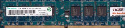 Ramaxel RML1320EJ38D7W-667 PC2-5300 1GB DDR2 667MHz RAM HP 377726-888* r707