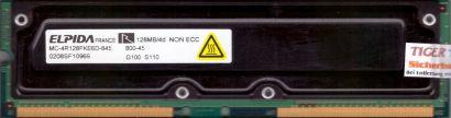 Elpida MC-4R128FKE6D-845 800-45 PC800 128MB 4d RDRAM 800MHz Rambus RIMM* r716