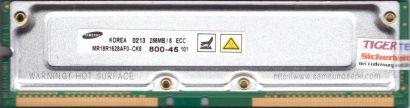Samsung MR18R1628AF0-CK8 800-45 PC800 256MB 8 ECC RDRAM 800MHz Rambus RIMM* r719