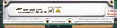 Samsung MR16R0828BN1-CN9 1066-32 PC1066 128MB 8 RDRAM 1066MHz Rambus RIMM* r720