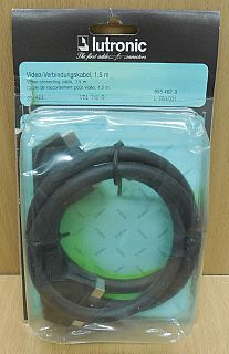 Lutronic Scart Kabel 1,5m vollverschaltet 2x Stecker Video TV DVD DVB-T*so837